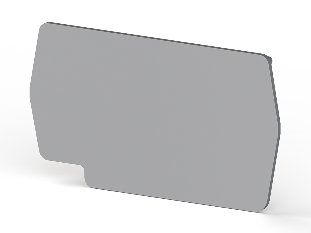 1 mm End plate, Insulation material PA, Grey