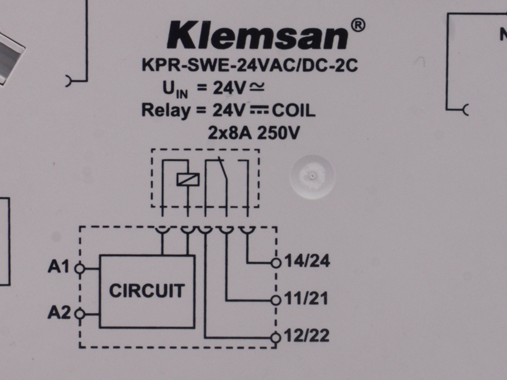 Klemsan Carrying The Relay Coil Currents Circuit Is Working As Follows Dimensions